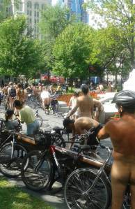 Montreal WNBR getting ready